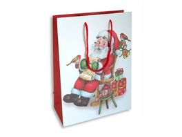 BRAUN COMPANY Geschenktasche Weihnachten 20x28x10cm Nikolaus