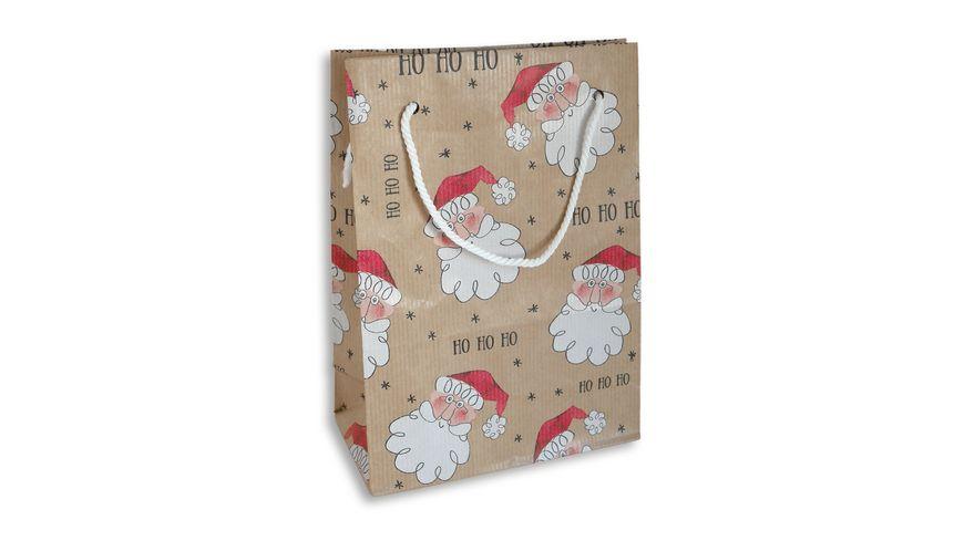 BRAUN+COMPANY Geschenktasche Weihnachten 16x22x8cm mit Kordel Sortierung