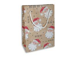 BRAUN COMPANY Geschenktasche Weihnachten 16x22x8cm mit Kordel Sortierung