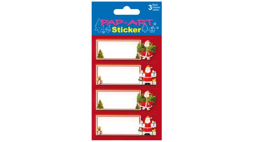 PAP ART Sticker Geschenk Etikett Papier 3 Blatt