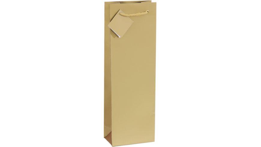 TRUBA Geschenktasche Flasche uni gold