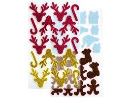 folia Moosgummi Glitter Sticker WINTER