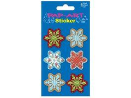 PAP ART Schneeflocken Papier Glitter 1 Blatt
