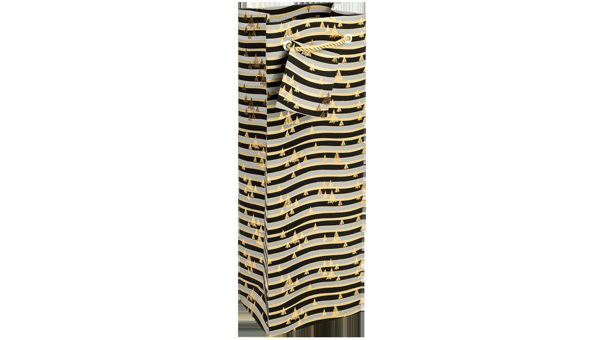 TRUBA Geschenktasche Flasche METALLIC black/gold