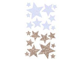 folia Moosgummi Glitter Sticker STERNE II