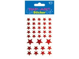 PAP ART Sticker Sterne rot Laser 1 Blatt