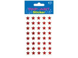PAP ART Sticker Sterne klein rot Laser 1 Blatt