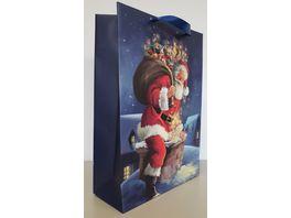 Geschenktuete Santa mit Geschenken gross 42x30x12cm