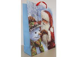 Geschenktuete Weihnachtsmann gross 42x30x12cm