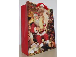 Geschenktuete Santa Post gross 32x26x10cm
