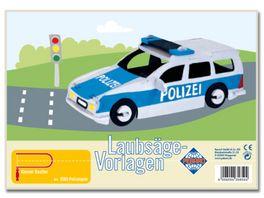 Pebaro Laubsaegevorlage Polizeiauto