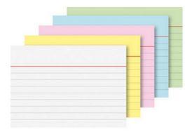 Karteikarten liniert A7 200 Stueck farblich sortiert