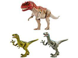 Mattel Ceratosaurus Set mit Ceratosaurus 2 Velociraptoren