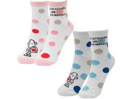 sheepworld Partner Socken Die Welt ist schoen weil Du mit drauf bist