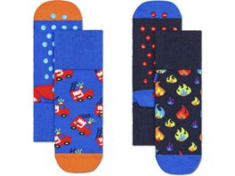 Happy Socks Kinder Socken Kids Firetruck Anti Slip 2er Pack