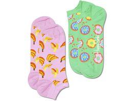 Happy Socks Unisex Sneaker Socken Snack Low 2er Pack