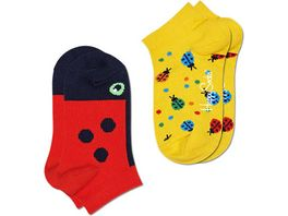 Happy Socks Kinder Sneaker Socken Kids Ladybug Low 2er Pack