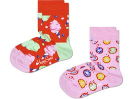 Happy Socks Kinder Socken Kids Cotton Candy 2er Pack