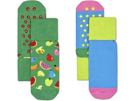 Happy Socks Kinder Socken Kids Fruit Anti Slip 2er Pack