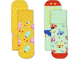 Happy Socks Kinder Socken Kids Circus Anti Slip 2er Pack