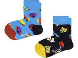 Happy Socks Kinder Socken Kids Cat And Dog 2er Pack