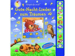 Gute Nacht Lieder zum Traeumen Vorlese Pappbilderbuch mit 10 Melodien fuer Kinder ab 3 Jahren