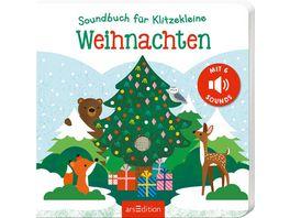 Soundbuch fuer Klitzekleine Weihnachten mit 6 leicht ausloesbaren Sounds