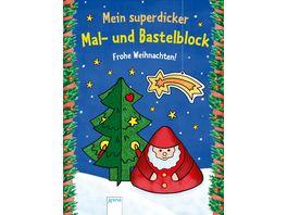 Mein superdicker Mal und Bastelblock Frohe Weihnachten