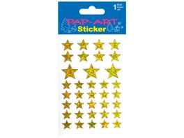 PAP ART Sticker Sterne gold sortiert Laser 1 Blatt