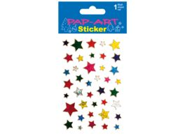 PAP ART Sticker Sterne farbig Laser 1 Blatt