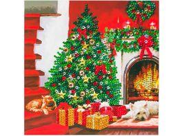 Craft Buddy Crystal Art Card Kit Christmas Tree 18 x 18 cm