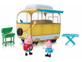 PEPPA Peppa s Abenteuer Wohnmobil mit 2 Spielfiguren und Zubehoer
