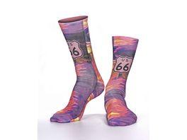 wigglesteps Damen Socken Route 66 I