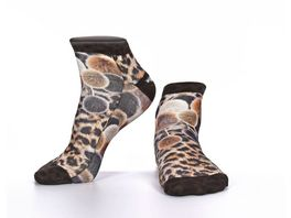 wigglesteps Damen Sneaker Socken Pompon Leo