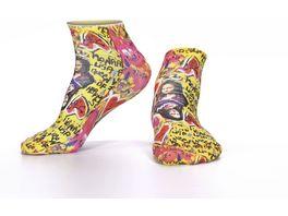 wigglesteps Damen Sneaker Socken Mona Lisa