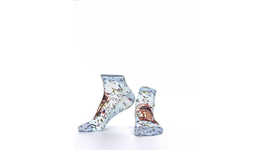 wigglesteps Damen Sneaker Socken Music Box