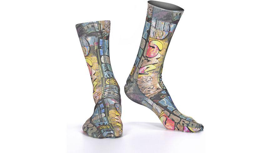 wigglesteps Damen Socken Street Art Iv