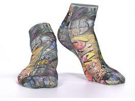 wigglesteps Herren Sneaker Socken Street Art