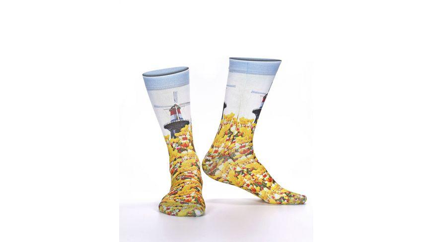 wigglesteps Damen Socken Mill&Flowers