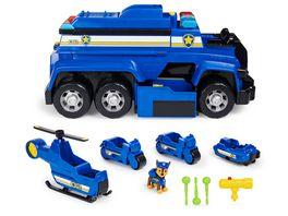 Spin Master PAW Patrol 5 in 1 Polizeifahrzeug von Chase 4 Mini Fahrzeuge plus Polizeicruiser plus Chase Figur
