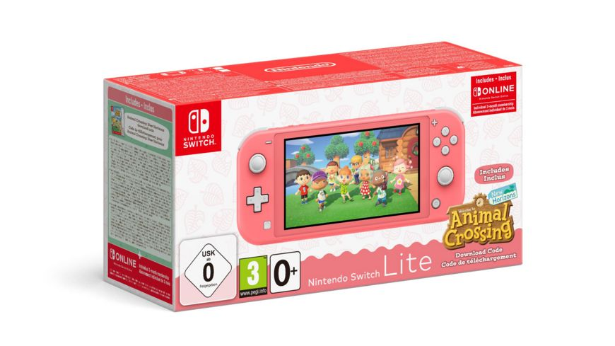 Nintendo Switch Lite Koralle & Animal Crossing