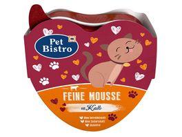 Pet Bistro Katzennassfutter Feine Mousse mit Kalb