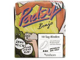 einhorn Bio Binden Tag Padsy Bonjo