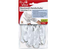 Fit Vital Baumwoll Handschuh Stulpenlaenge 25cm