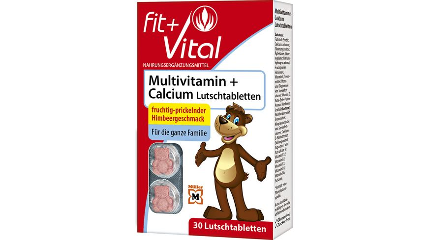 Fit + Vital Calcium + Multivitamin Lutschtabletten