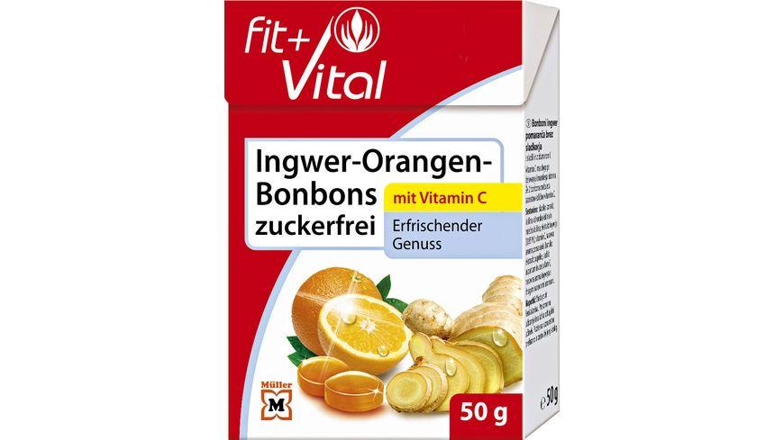 Fit + Vital Ingwer-Orangen-Bonbons zuckerfrei