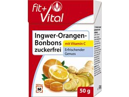 Fit Vital Ingwer Orangen Bonbons zuckerfrei