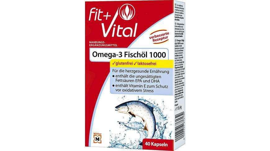 Fit + Vital Omega 3 1.000 Kapseln