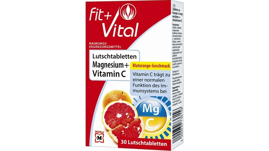Fit + Vital Magnesium + Vitamin C  Lutschtabletten