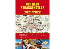 Strassenatlas 2021 2022 fuer Deutschland und Europa